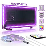 TV LED Backlight,SHINELINE 20ft USB LED Light Strip with 24 Key Remote Control RGB SMD 5050 Color Changing LED Lights for TV 46-65inch Large Size DIY Decoration(2RollX10ft)
