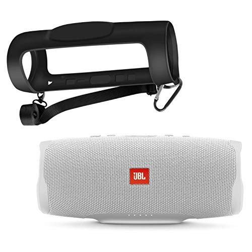 JBL Charge 4 - Waterproof Portable Bluetooth Speaker with Portable Silicone Carrying Case (White)