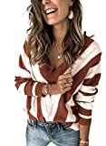 Asvivid Comfy Striped V Neck Pullover Sweaters for...