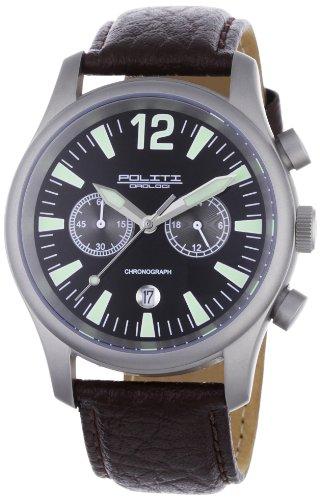 POLITI OROLOGI Herren Armbanduhr Chronograph OR3901-brown