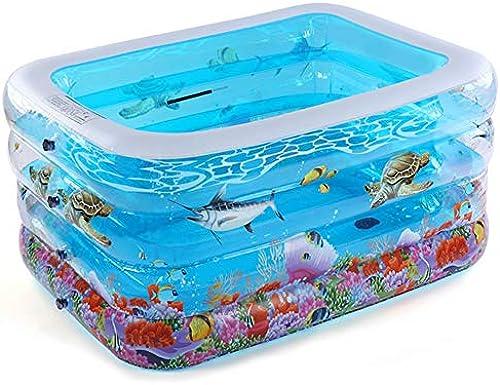 Aufblasbarer Pool, Kinder Schwimmen Eimer Aufblasbares Kinderbadefass Verdicktes Hallenbad Unterseite Baumwollisolierung