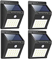 Bigsavings. Light-Solar Powered Cordless Outdoor Led Motion Sensor Path and Security Light - Pack of 4