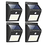 Bigsavings. Light-Solar Powered Cordless Outdoor Led Motion Sensor Path and Security Light - Pack of 4, Multicolor (Bigsavings-B07PMBNPJB)