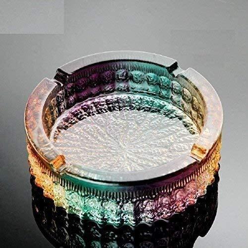 Samanth Praktischer Bastel-Aschenbecher Aschenbecherbehälter Europäischen Kristallglas Aschenbecher Kreative Persönlichkeit Großer Hauswirtschaftsraum Retro Aschenbecher, angepasst an Glas