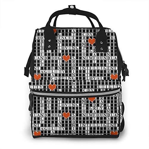 nbvncvbnbv Crossword Puzzle Wickeltasche Wasserdichte Multifunktions-Reisemumienrucksack-Wickeltaschen für die Babypflege Große Kapazität Stilvoll und langlebig