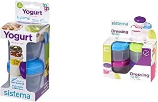 Sistema To Go Yogurt Pack with 2 Yogurt Pots & 4 Toppings Containers, 12-Piece