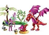 PLAYMOBIL Hadas- Dragón con Bebé, única (9134)