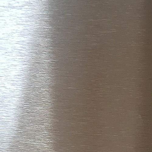 Edelstahlblech, Edelstahl k320 gebürstet 1 mm stark, Blechstreifen, 500 x 300 mm V2A,Edelstahlplatte