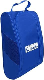 VWH Travel Shoe Bag with Zipper Waterproof Portable Storage Organizer Shoe Bags (Blue)