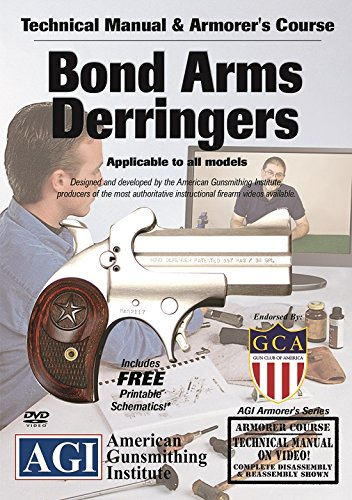 American Gunsmithing Institute Armorer's Course Video on DVD for Bond Arms Derringers - Technical Instructions for Disassembly, Cleaning, Reassembly and More