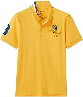 قميص بولو نابليون بتطريز ثلاثي الابعاد للرجال من جيوردانو