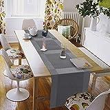Tischset, Platzsets 6er Set - rutschfest Abwaschbar Tischsets - PVC Hitzebeständig Platzdeckchen - Kommt mit Passendem Tischläufer und Untersetzer - Platz-Matten für Küche and Restaurant(Silber) - 3