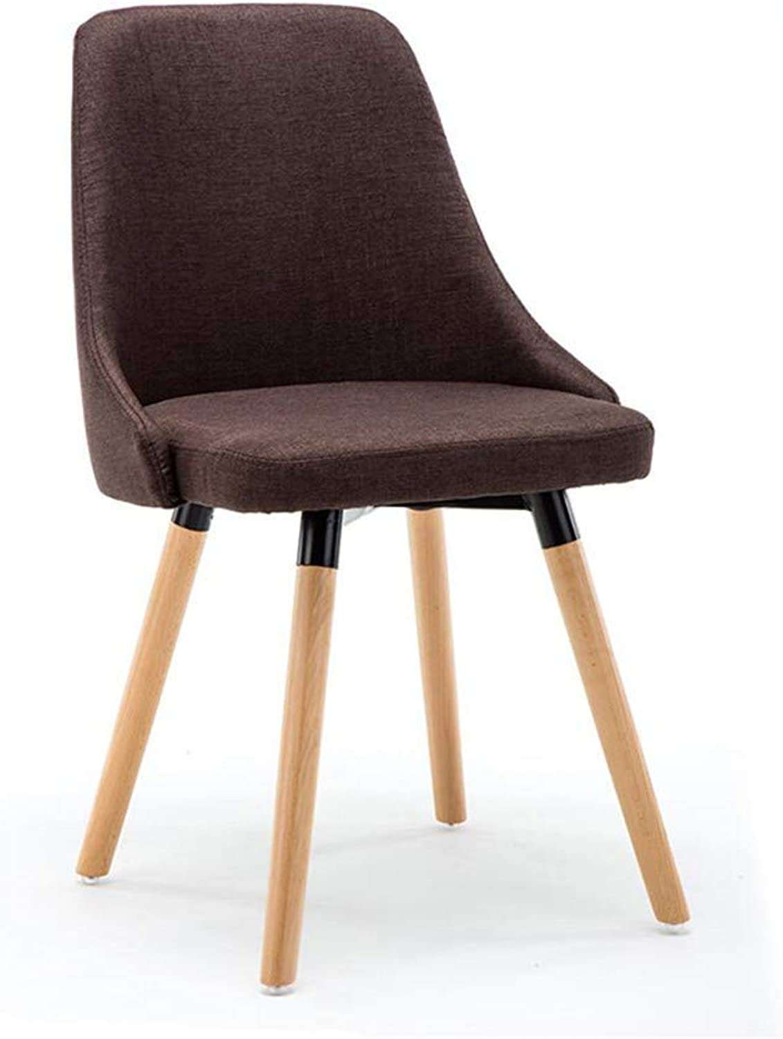 Bar Stools, High Stool, Wooden Legs Upholstered Seat Backrest Breakfast Home Kitchen Cafe Chairs, One Piece Two Pieces for Bar Kitchen Restaurant Living Room Cafe (color   Brown)