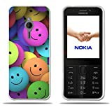 FUBAODA für Nokia 230 case, [Group of Smiling Faces] Silicon Clear TPU Fashion Creative 3D Contemporary Chic Full-Body Protective Matte Rubber Silicone Cover Phone Hülle Protector for für Nokia 230