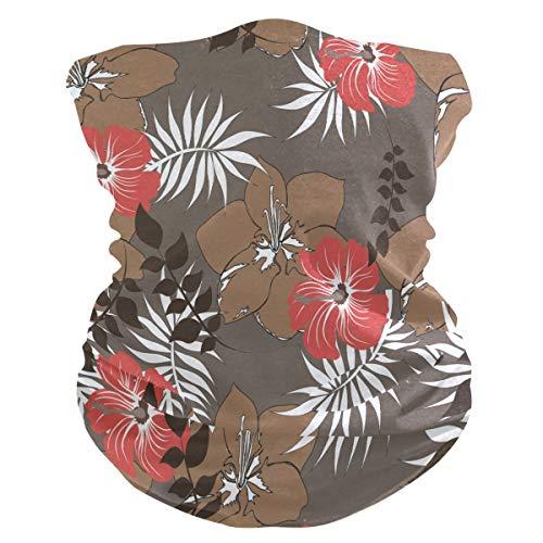 Sawhonn Schilderij rode bloemensjaal, mascara, gezichtsmasker, bandana, haarband, bivakmuts, hoofdband voor sport, dames en heren