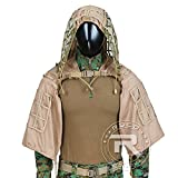 LytHarvest Ghillie Suit Foundation, Tactical Sniper Coats/Viper Hoods (Brown)
