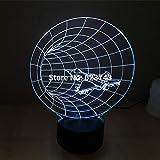 Lámpara de mesa de plástico LED con cambio de color 3D Lámpara de mesa de plástico con luz de noche LED USB para decoración de mesita