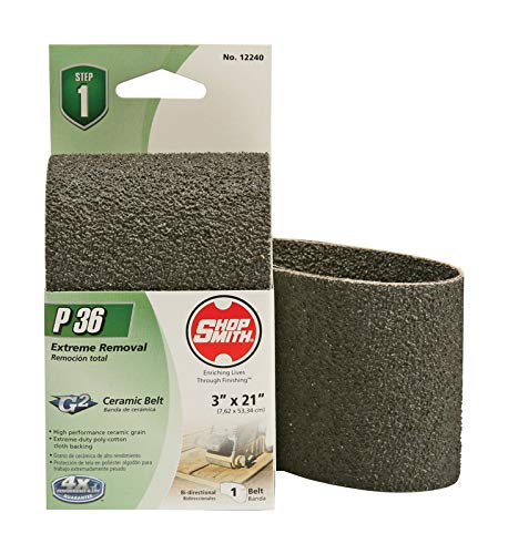 "Shopsmith Sandpaper W 3 "" 21 "" Grit36 -  Ali Industries Inc, 12240"