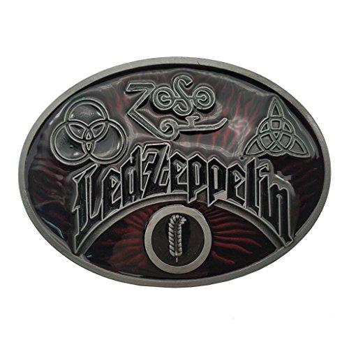 YONE Hebilla de cinturón Led Zeppelin Keltic Design Rock Music Belt B
