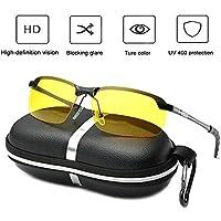 Gafas de conducción nocturna, HD antirreflejos de visión nocturna, reduce la tensión de los ojos y dolores de cabeza para caminantes al aire libre, conducción, ciclismo, esquí, equitación