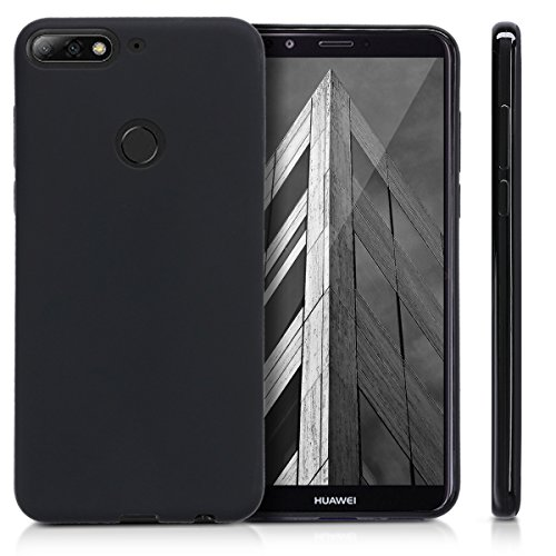 kwmobile Huawei Y7 (2018)/Y7 Prime (2018) Hülle - Handyhülle für Huawei Y7 (2018)/Y7 Prime (2018) - Handy Case in Schwarz matt - 5