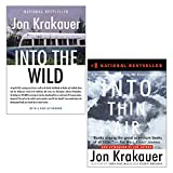Jon Krakauer 2 Books Collection Set (Into the Wild & Into Thin Air: A Personal Account of the Everest Disaster)