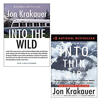 Jon Krakauer 2 Books Collection Set  Into the Wild & Into Thin Air  A Personal Account of the Everest Disaster
