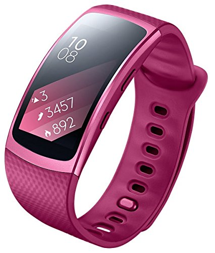 SAMSUNG Gear Fit2 SM-R360 Sports Band Smartwatch / iPhone Compatible [Asia Version] (Small, Pink)
