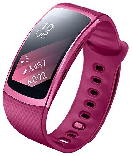 Samsung Gear Fit 2 SM-R360 Smartwatch mit Pulssensor und Benachrichtigungen - Pink (S) [Asien Version]