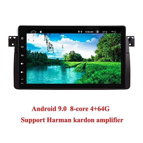 Android 9.0 Car Audio Stereo Autoradio Past voor BMW E46 BMW 3 Serie M3 Radio 9 Inch HD Touchscreen GPS Navigatie met Bluetooth WIFI Stuurbediening (E46 DSP)