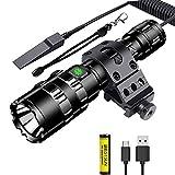 BESTSUN Tactical Flashlight, 1500 Lumen Super Bright LED Flashlight Rechargeable 5 Modes Weapon...