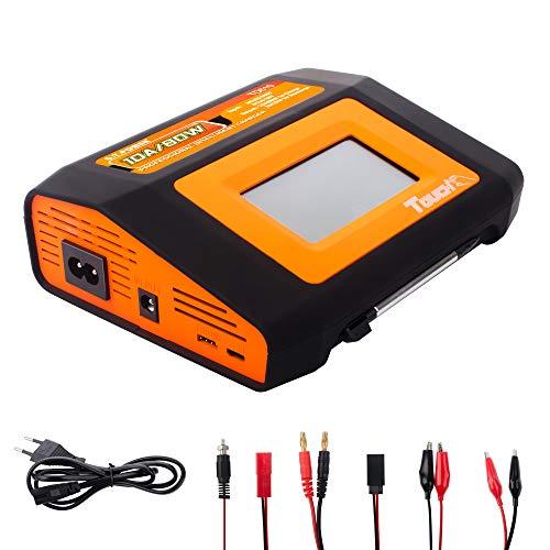 G.T.Power TD610 LiPo-Ladegerät Batterie Dual-RC-Akku-Ladegerät für Touchscreen 10A80W für 1-6S Lipo / Li-Ion / Lebensdauer / NiCd / NiMH / PB-Akku