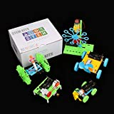 5 Set STEM Kit,DC Motors Electronic Assembly Kit for Kids DIY STEM Toys Intro to Engineering, Mini Cars, Circuit Building DIY Science Experiment Projects for Boys and Girls