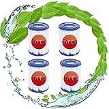 LPFNSF - Cartuchos de filtro Bestway 58094 de repuesto para piscina Bestway tipo 2, para piscina Intex tipo II - 4 unidades
