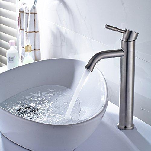 Maifeini Mix Grifos calientes y fríos _ Grifo de baño en lavabo Mezclar agua caliente y fría