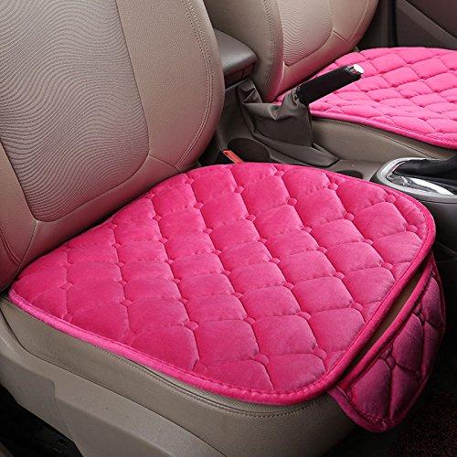 Springdoit 1 stücke auto vorne sitzkissen weiche seide gänsedaunen sitzbezug, seide samt abdeckung sitzkissen auto zubehör (rosa)