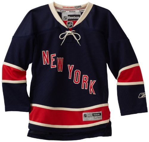 NHL Youth New York Rangers Third/Alternate Premier Jersey (Navy, Youth Large/X-Large)