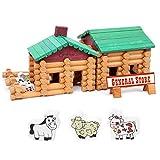 NgMik Enfants 3-12 Ans Ferme Et Petit Magasin Maison en Bois Ensemble Blocs de Construction Jouets for Enfants Créativité Enfants Jouets éducatifs Brain Games (Color : Multi-Colored, Size : One Size)