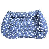 Cisne 2013, S.L. Super Oferta!! Cama para Perro y Gato Azul Huellas D 95 * 75 cm.