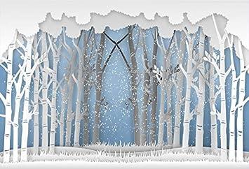DaShan 10x8ft Christmas Winter Ice Frozen Snowflake Backdrop Snow Forest Cartoon Winter Wonderland Frozen Baby Shower Photography Background Baby Newborn Wall Decor New Year Kid Photo Prop