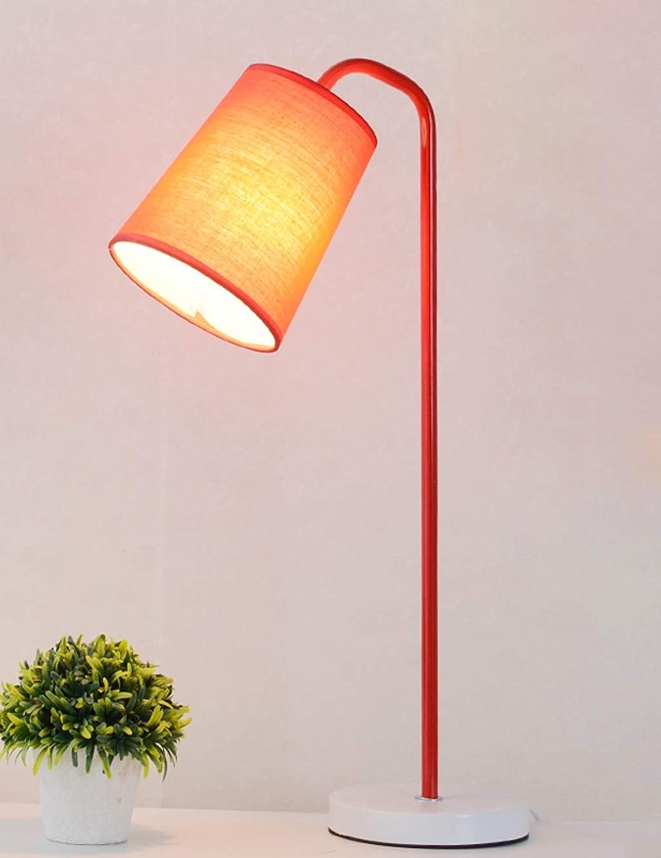 Schreibtischlampe, Schlafzimmer-Nachttischlampe, Student Eye Reading Tischlampe, Rot D25cm × H53cm