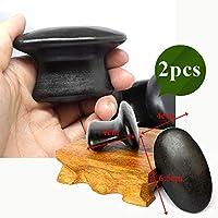 YASEking 石マッサージセットはストレスバックペインヘルスケアアカウント/ヘルスケアスパロックのための溶岩玄武岩石 (Color : 2pcs 6.5x4x4cm)