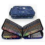 120 lápices de colores con Caja de Cremallera Portátil para proteger y almacenar los lápices,Set de Lápices Colores Profesional para colorear, dibujar y sombrear Ideal para Artistas, Adultos y Niños