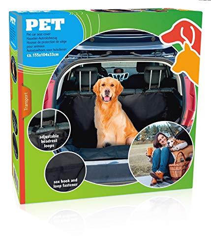 Edco Hondendeken voor de kofferbak, transport-, hondendeken, huisdier, beschermhoes voor de achterbank, waterdicht en antislip, 155 cm x 104 cm x 33 cm