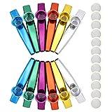 12 membranas de metal para flauta kazoo gran regalo para los amantes de la música de los niños.