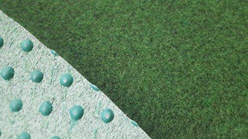 Kunstrasen (4,50€/m²), Rasenteppich mit Drainage-Noppen, Festmaß 133 x 400 cm, grün