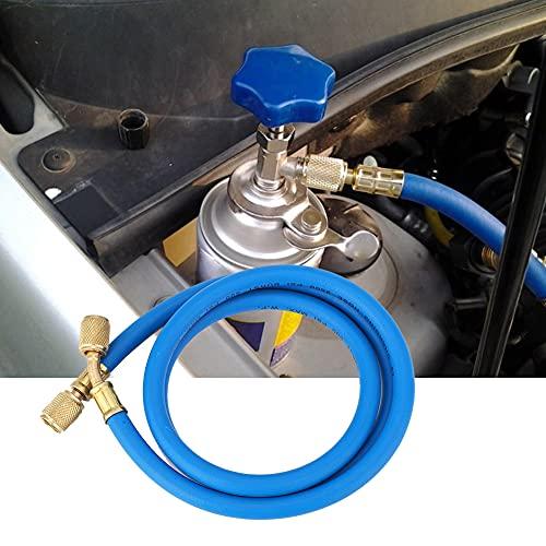 Weikeya Acondicionador de Aire, Hecho de Material de Goma de Cobre y Goma Doble 1 / 4in Puerto BSP Adaptador Recto para Aire Acondicionado Doble 1 / 4in BSP