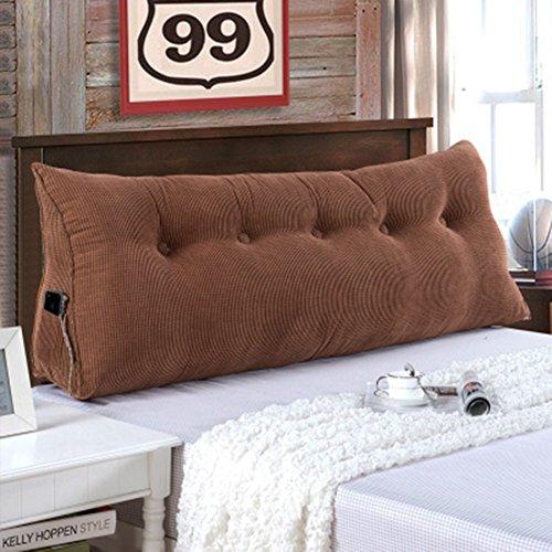 Schlafsofa Großes dreieckiges Keilkissen, Schlafzimmer-Doppelbett-Rückenlehnenkissen, Sofahülle Soft Bag Lesen Rückenlehne Kopfteil mit abnehmbarem Bezug, 7 Farben, 5 Größen