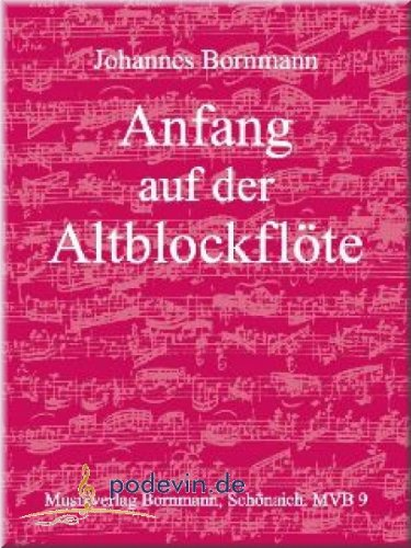Anfang auf der Altblockflöte - Blockflöte Noten [Musiknoten]