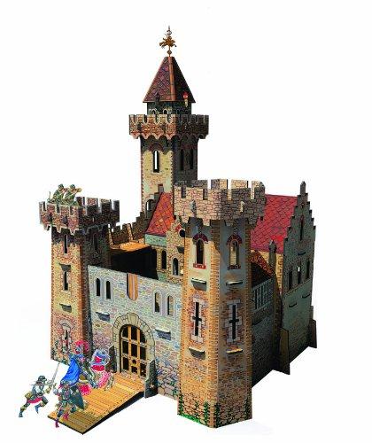 Keranova keranova20726x 26x 45x 24cm Clever Papier Château de Ville médiévale Chevalier Puzzle 3D
